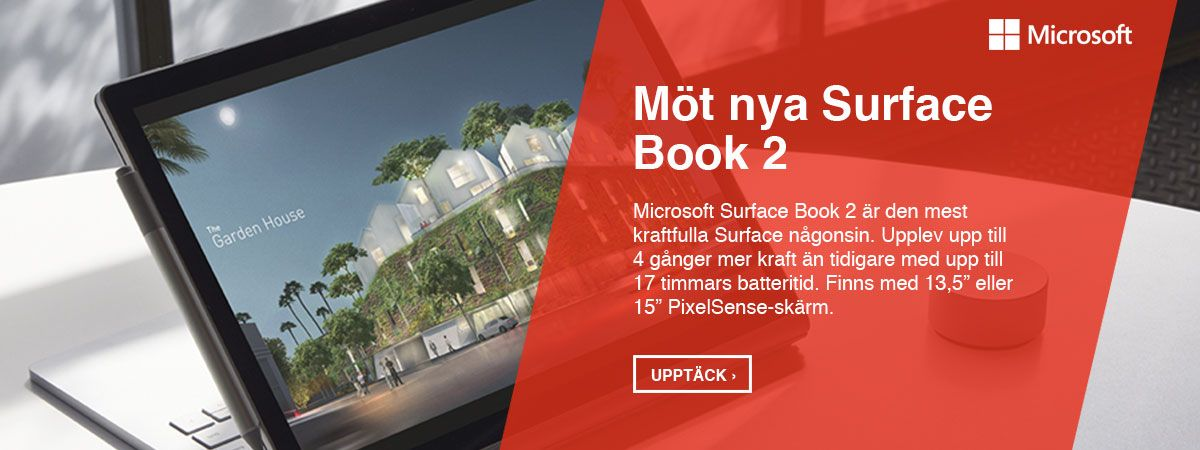 Microsoft Surface Book 2 - Den mest kraftfulla Surface någonsin.