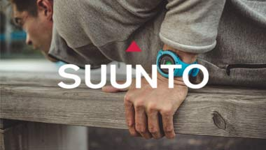 Blue Suunto Trainer used by man in workout