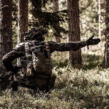 Soldier in the woods